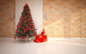Christmas Empty interior — Stockfoto