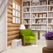 Wooden house interior — Stock Photo #35292155