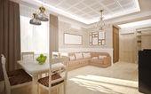 Interior in classic style — Stock Photo