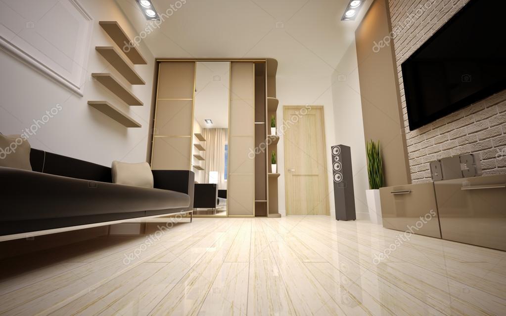 interior design. soggiorno moderno — Foto Stock © Podsolnukh #38055141