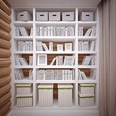 книжный шкаф — Стоковое фото