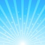Background of blue luminous rays — Stock Vector #40432491