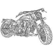 Quad bike, motorcycle,  3D model — Stock Vector