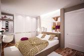 Intérieur chambre à coucher dans un style moderne — Photo