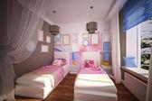 Interior children's bedroom — Stock Photo