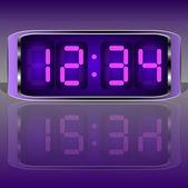 Digital Clock . Digital Uhr Nummer — Stock Vector