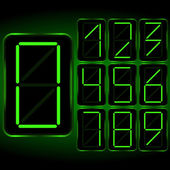 Digital Clock . Digital Uhr Nummer — ストックベクタ