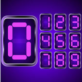 Digital Clock . Digital Uhr Nummer — Stockvector