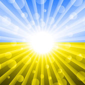 Ukrainian flag color . Abstract light background — Stock Vector
