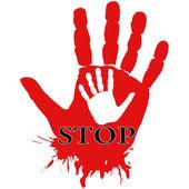 Helpende hand. — Stockvector