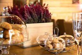 Sweet rolls and dry lavender — Stock Photo