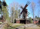 Wooden windmill in Helsinki — Stock Photo