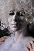 Transformation von einem engel in menschen — Stockfoto