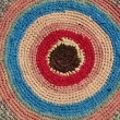 Stock Photo: Bright woven rug.