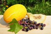 Melon i winogron. — Zdjęcie stockowe