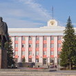 Stock Photo: Monument to Vladimir Lenin in Barnaul.