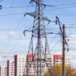 Stock Photo: Iron electric pole.