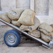 Holey bags on a cart. — Stock Photo #34992117