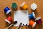 Brushes and paint. — Stock Photo
