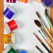 Stock Photo: Brushes and paint.