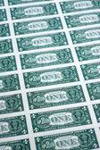 Wielu jeden dolar rachunki bocznych — Zdjęcie stockowe