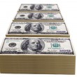 Stacks of one hundred dollar bills — Stock Photo #15651967