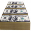 Stock Photo: Stacks of one hundred dollar bills