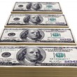 Stacks of one hundred dollar bills — Stock Photo #15651969