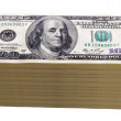 One hundred dollar bills isolated — Stock Photo #15652061