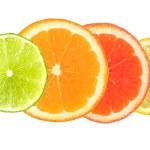 Citrus fruit isolated on white — Stock Photo