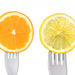 Stock Photo: Oranges and lemons