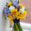 Stock Photo: Wedding bouquet of spring flowers