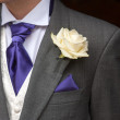 Man wearing a rose buttonhole — Stock Photo #47122597