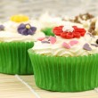 Festive and colorful cupcakes — Stock Photo