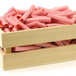 Pink candy sticks filled with strawberry jam — Stock Photo