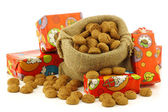 "Bunch of Dutch ""pepernoten"" eaten at Dutch festivities around december 5th called ""Sinterklaas"" — Foto de Stock"