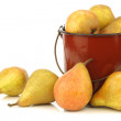 Royalty-Free Stock Photo: Cooking pears Gieser Wildeman in a enamel pot