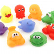 Colorful collection of bathing toys — Stock Photo #45650627