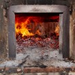Wood- burning oven - Stock Photo