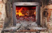 Wood- burning oven — Stock Photo