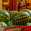 Watermelons on a Cart — Stock Photo
