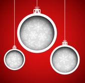 Kerstballen — Stockvector