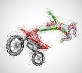 абстрактный байкер — Cтоковый вектор