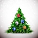 Christmas tree with balls — Stock Vector #14051506