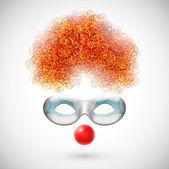 Accessoires clown — Stockvector