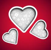 Sevgililer günü arka plan — Stok Vektör