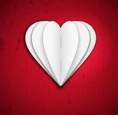 Coeur de papier — Vecteur
