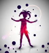 Jester juggler — Stock Vector