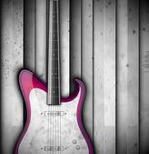 ギターの背景 — ストックベクタ