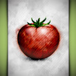 Royalty-Free Stock Vectorielle: Tomato watercolor
